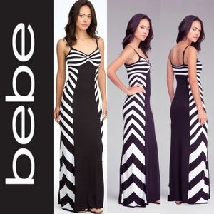 BEBE Twisted Neck Maxi Dress NWT